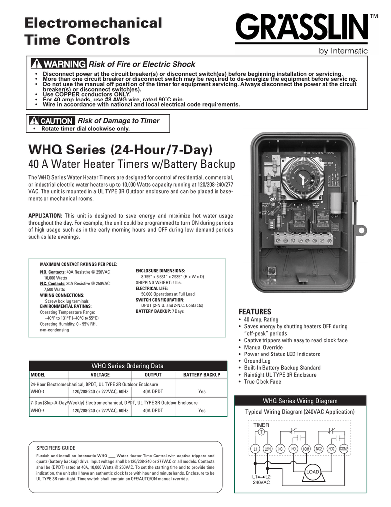 Whq Series Intermatic Wiring Diagram Spdt Dip Switch Configuration