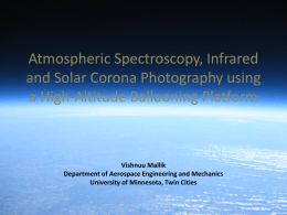 Infrared Photography, Atmospheric Spectroscopy and Solar Corona