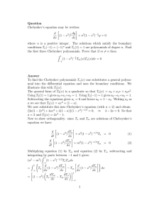 Question Chebyshev`s equation may be written d dx [(1 − x dy dx] +