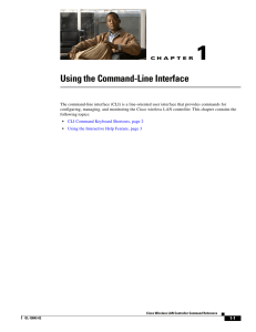 Using the Command-line Interface