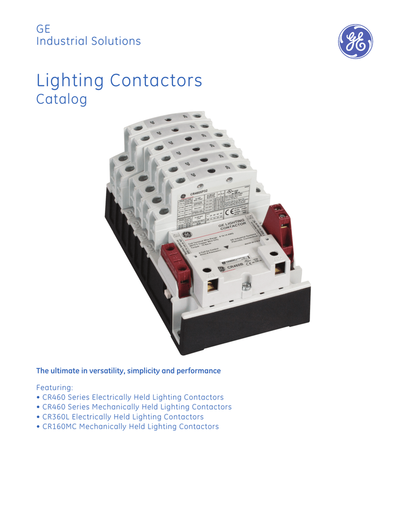 Lighting Contactors - GE Industrial Solutions on