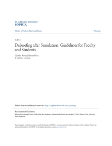 Debriefing after Simulation: Guidelines for Faculty and