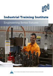 Industrial Training Institute - Chamber of Commerce and Industry of