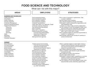 food science and technology - What Can I Do With This Major?
