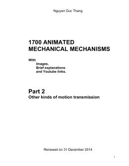 1700 ANIMATED MECHANICAL MECHANISMS Part 2