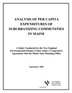 analysis of per capita expenditures of suburbanizing communities in