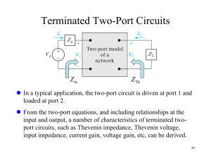 Terminated Two-Port Circuits