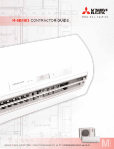 M-Series Contractor Guide - Mitsubishi Electric US, Inc. Cooling