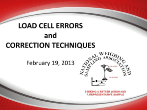 LOAD CELL ERRORS and CORRECTION TECHNIQUES