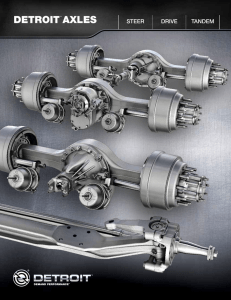 Detroit Axles Brochure