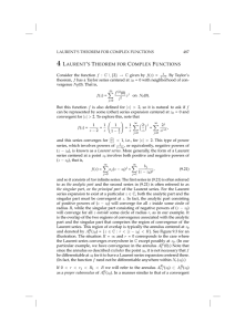 4 LAURENT`S THEOREM FOR COMPLEX FUNCTIONS