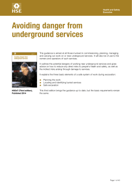 Avoiding danger from underground services HSG47