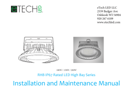 Installation and Maintenance Manual