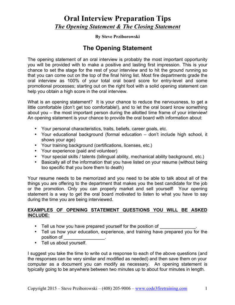 Opening Closing Statement Handout