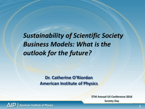 Dr. Catherine O`Riordan American Institute of Physics