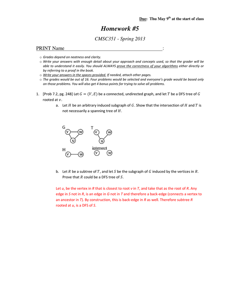cmsc351 homework solutions