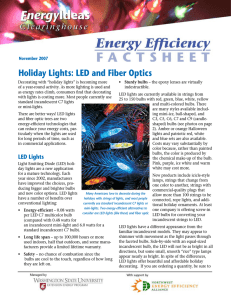 Holiday Lights: LED and Fiber Optics