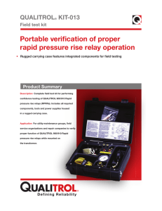 Portable verification of proper rapid pressure rise