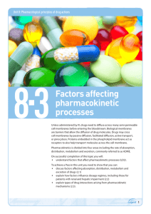 Topic guide 8.3: Factors affecting pharmacokinetic processes