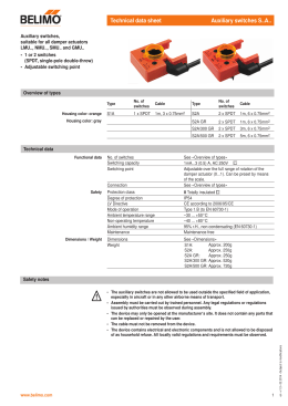 Technical data sheet Auxiliary switches S..A..