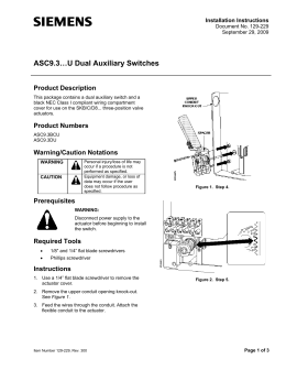 ASC9.3…U Dual Auxiliary Switches