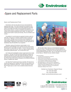 Spare and Replacement Parts