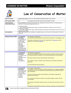 Law of Conservation of Matter - Awesome Science Teacher Resources
