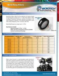 Band-Pass Filters - Microtech Instruments, Inc.