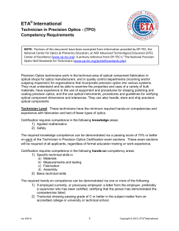Competencies - ETA International