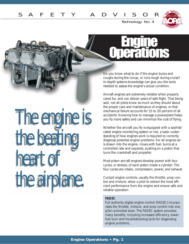 The engine is the beating