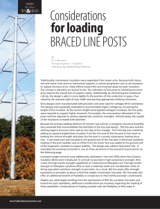Considerations for Loading Braced Line Posts