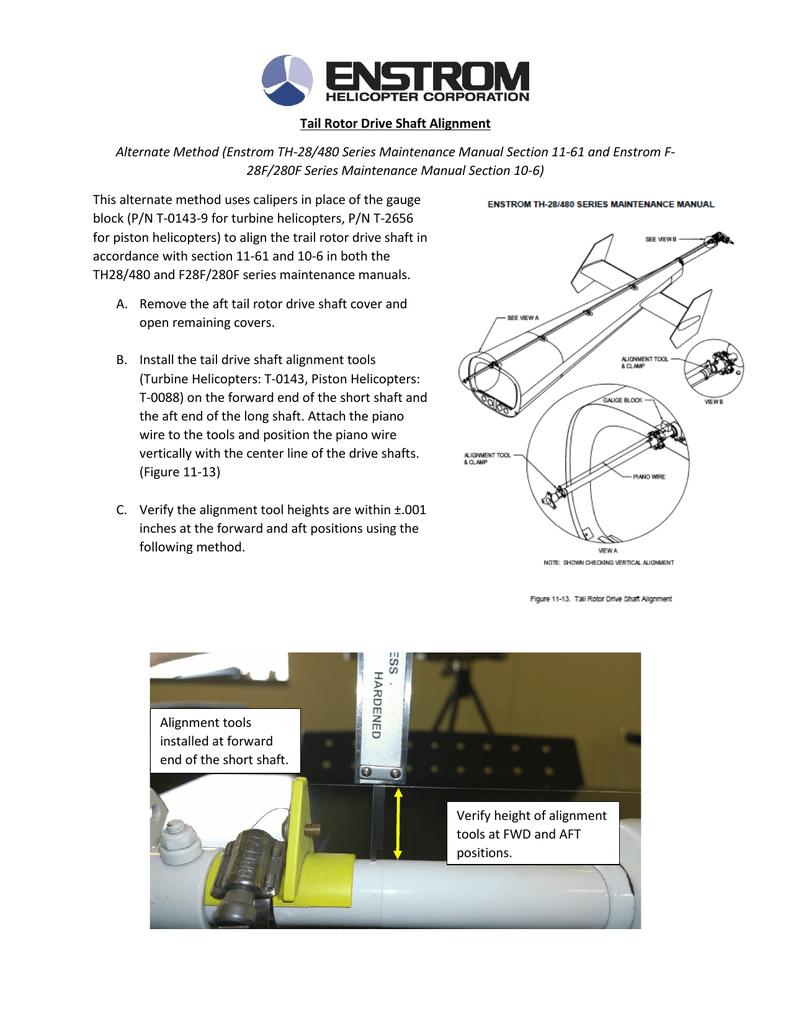 tail rotor drive shaft alignment rh studylib net Service Manuals Maintenance Man