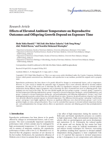 Research Article Effects of Elevated Ambient Temperature on