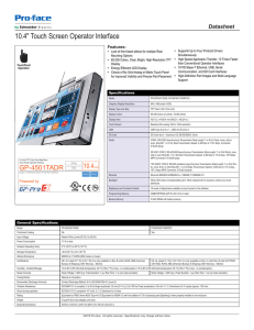 "10.4"" Touch Screen Operator Interface - Pro"