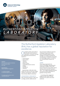 Rutherford Appleton Laboratory - Science and Technology Facilities