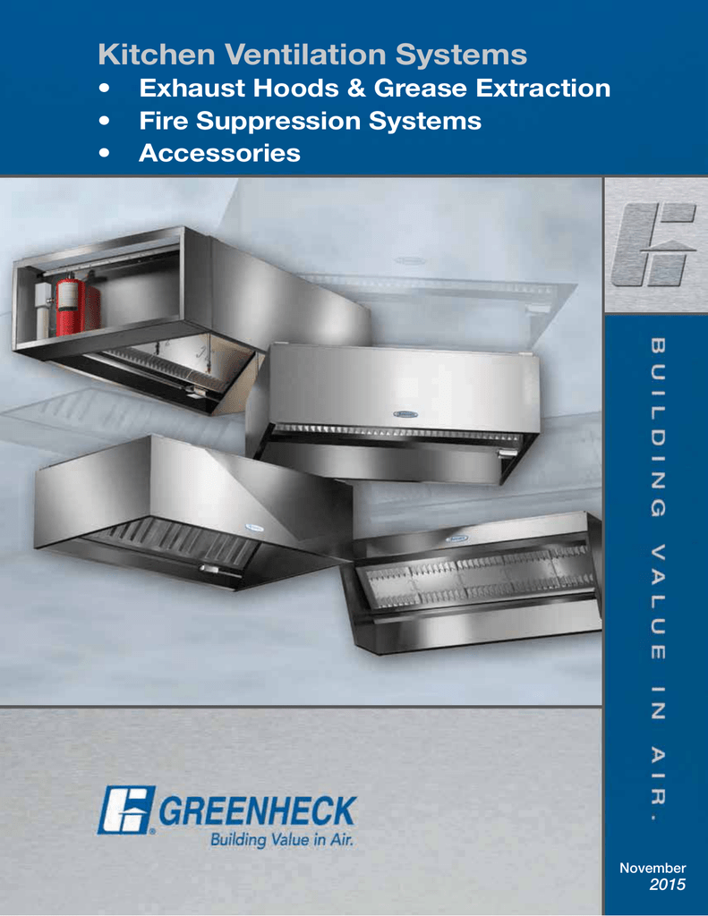 Kitchen Ventilation Systems - Hoods