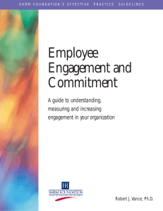 Employee Engagement and Commitment