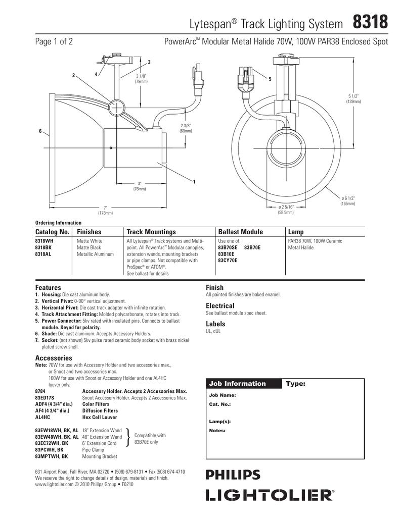 Lytespan Track Lighting System 8318