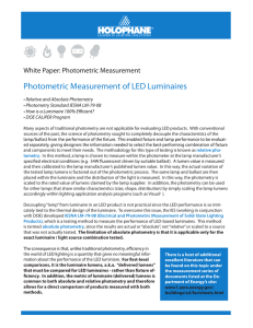 Photometric Measurement of LED Luminaires
