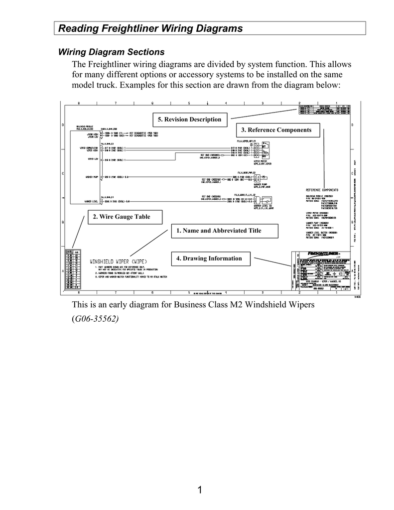 how to read a freightliner wiring diagram