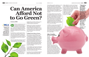 2009-03 Can America Afford Not to Go Green