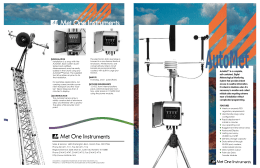 AutoMet™ is a complete, self-contained, Digital Meteorological