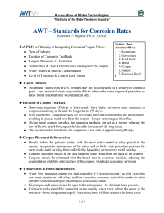 AWT – Standards for Corrosion Rates