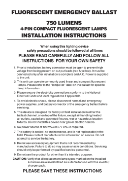 ufo cf2 installation instructions dual lite fluorescent emergency ballast installation