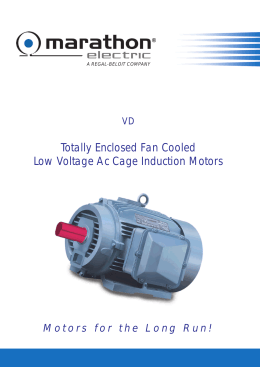 3 phase ac induction motors installation and operation manual for Totally enclosed fan cooled motor