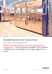 Moulded Stainless Steel Control Panel Uses Deep Drawing