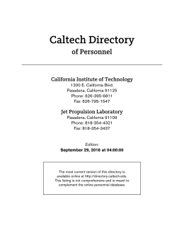 Caltech Personnel Directory