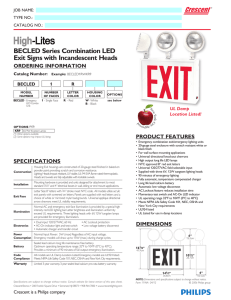 BECLED Series Combination LED Exit Signs with