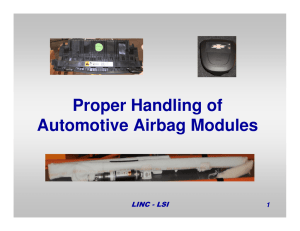 Proper Handling of Automotive Airbag Modules
