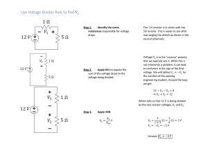 Use Voltage Divider Rule to find 1.
